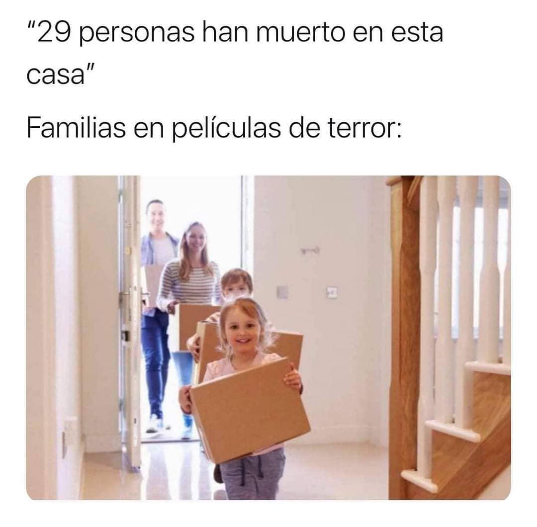 29 personas han muerto en esta casa.  Familias en películas de terror: