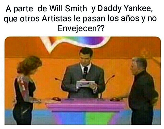 A parte de Will Smith y Daddy Yankee, que otros artistas le pasan los años y no envejecen??