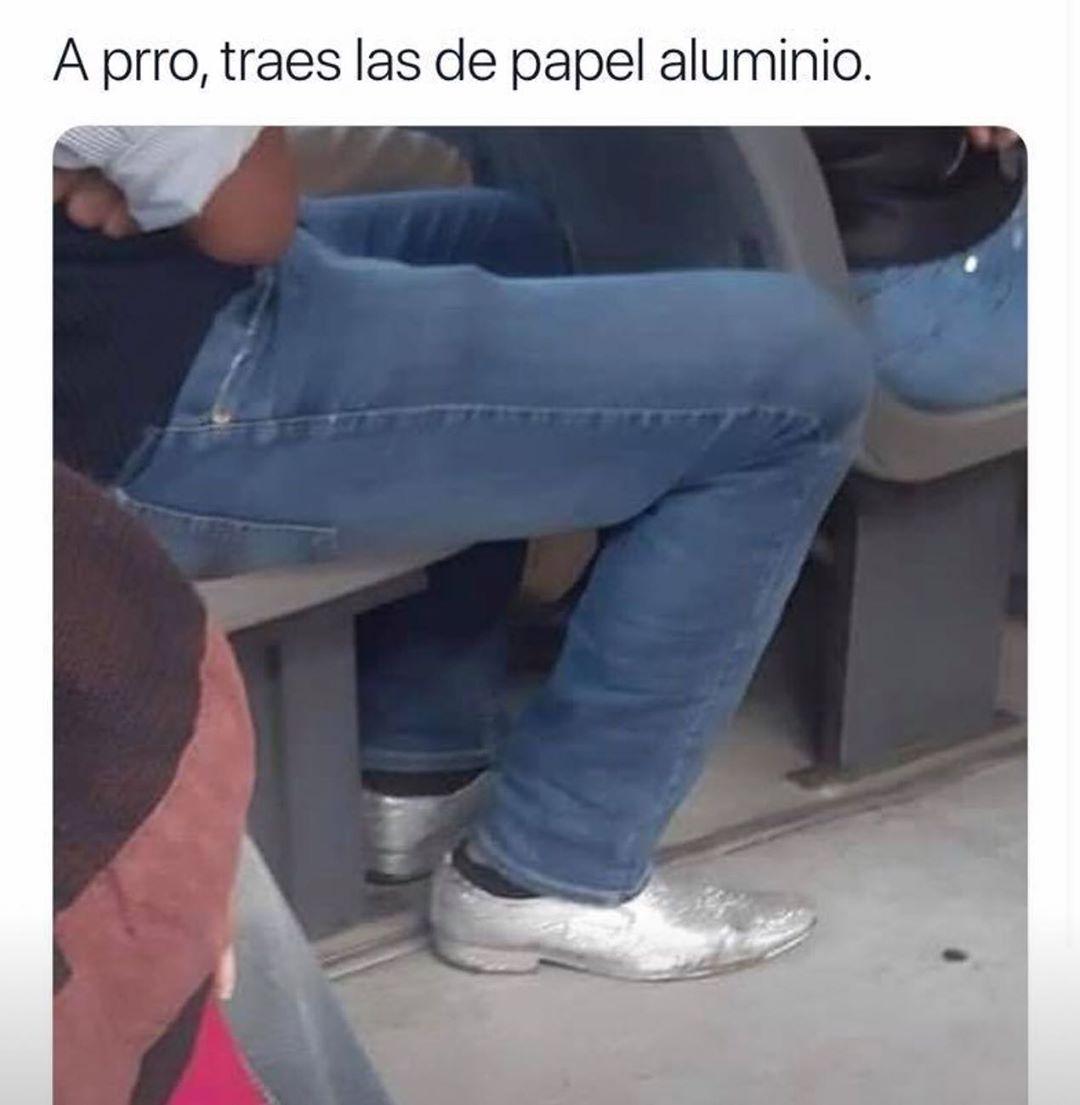 A prro, traes las de papel aluminio.