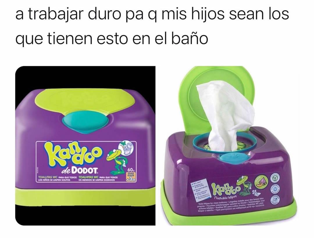 A trabajar duro pa q mis hijos sean los que tienen esto en el baño.
