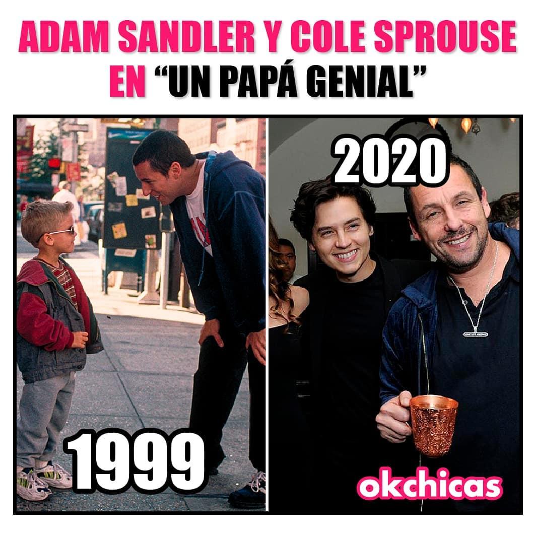"""Adam Sandler y Cole Sprouse en """"un papá genial""""."""