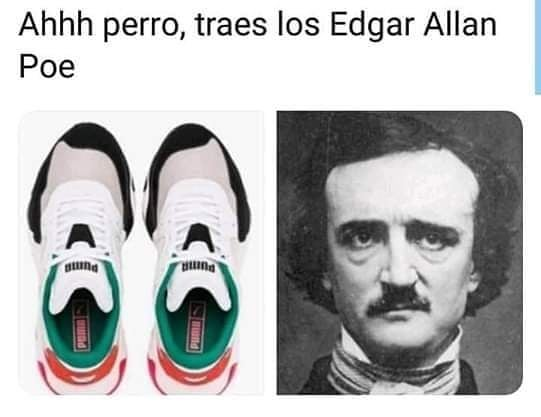 Ahhh perro, traes los Edgar Allan Poe.