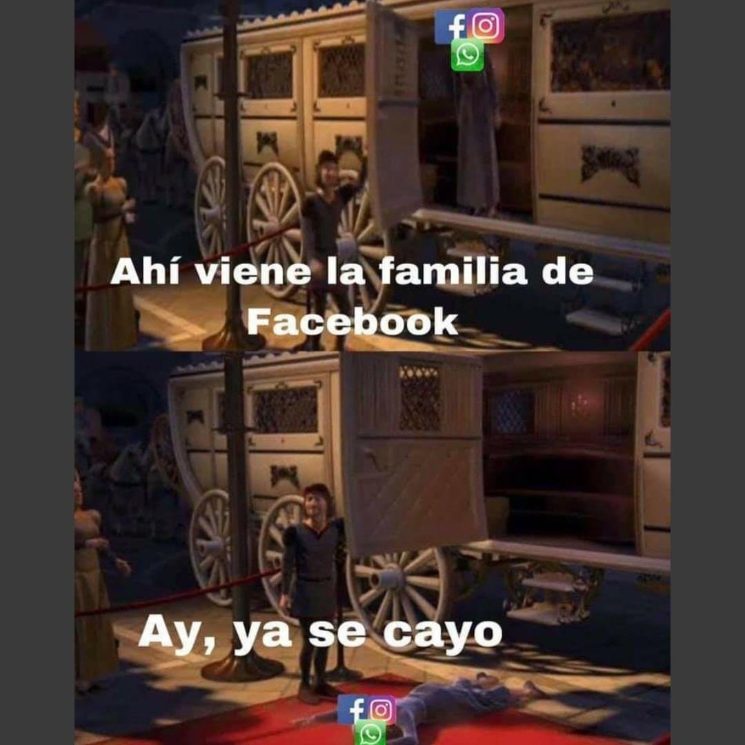 Ahí viene la familia de Facebook. Ay, ya se cayo.