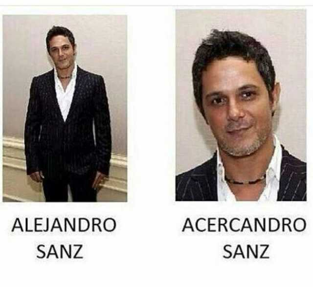 Alejandro Sanz. // Acercandro Sanz.