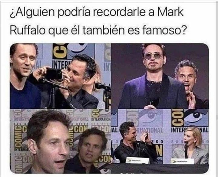 ¿Alguien podría recordarle a Mark Ruffalo que él también es famoso?