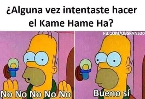 ¿Alguna vez intentaste hacer el Kame Hame Ha?  No. No No No No. / Bueno sí.