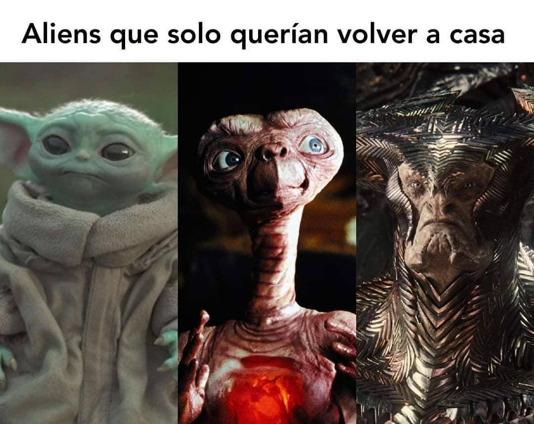 Aliens que solo querían volver a casa.