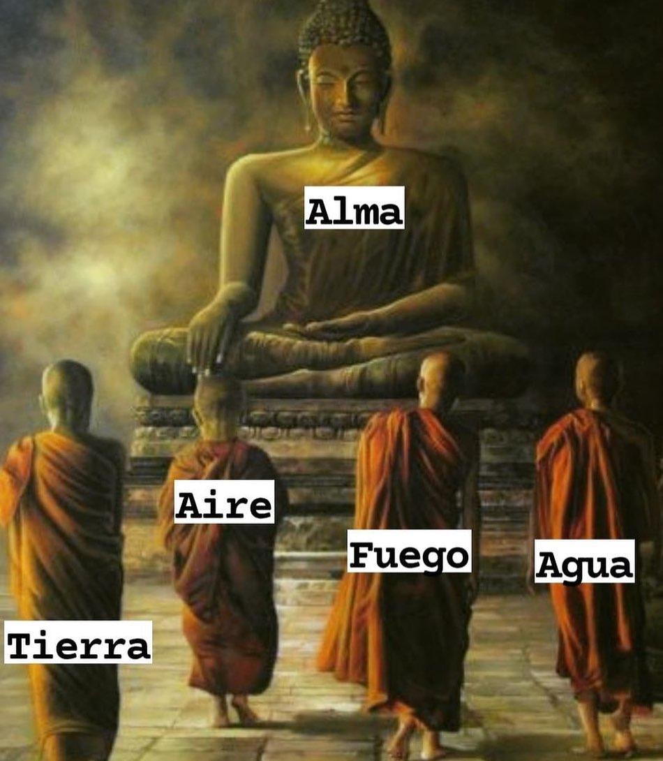 Alma. Tierra. Aire. Fuego. Agua.