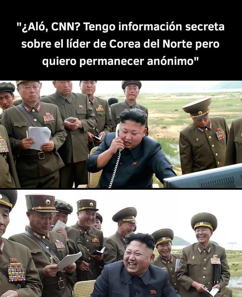 ¿Aló, CNN? Tengo información secreta sobre el líder de Corea del Norte pero quiero permanecer anónimo.