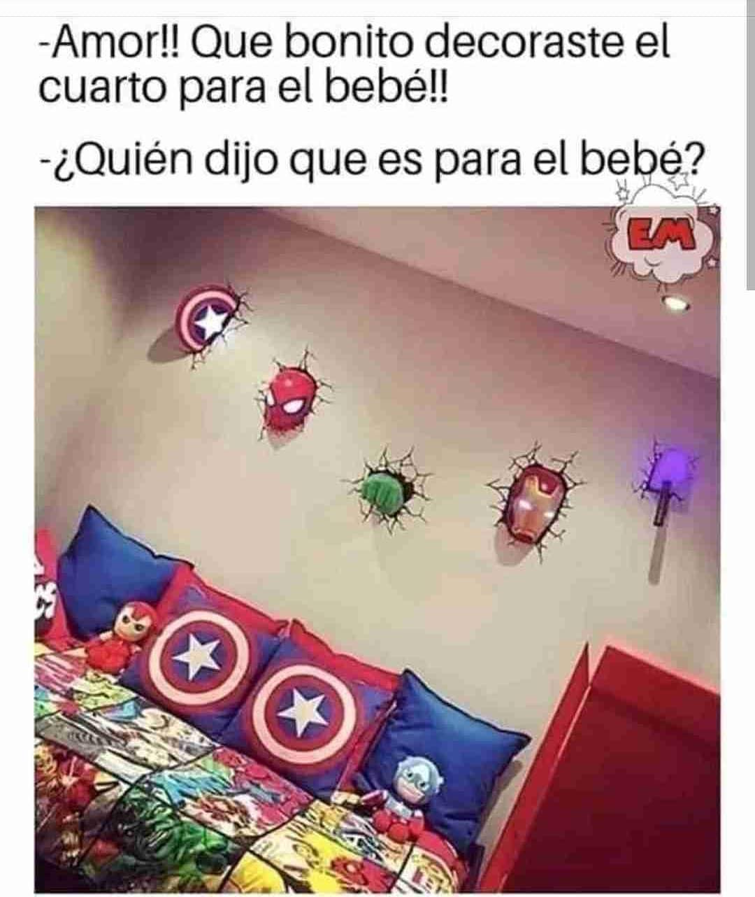 Amor!! Que bonito decoraste el cuarto para el bebé!!  ¿Quién dijo que es para el bebé?