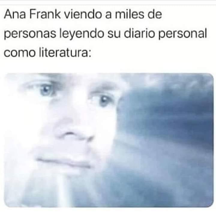 Ana Frank viendo a miles de personas leyendo su diario personal como literatura: