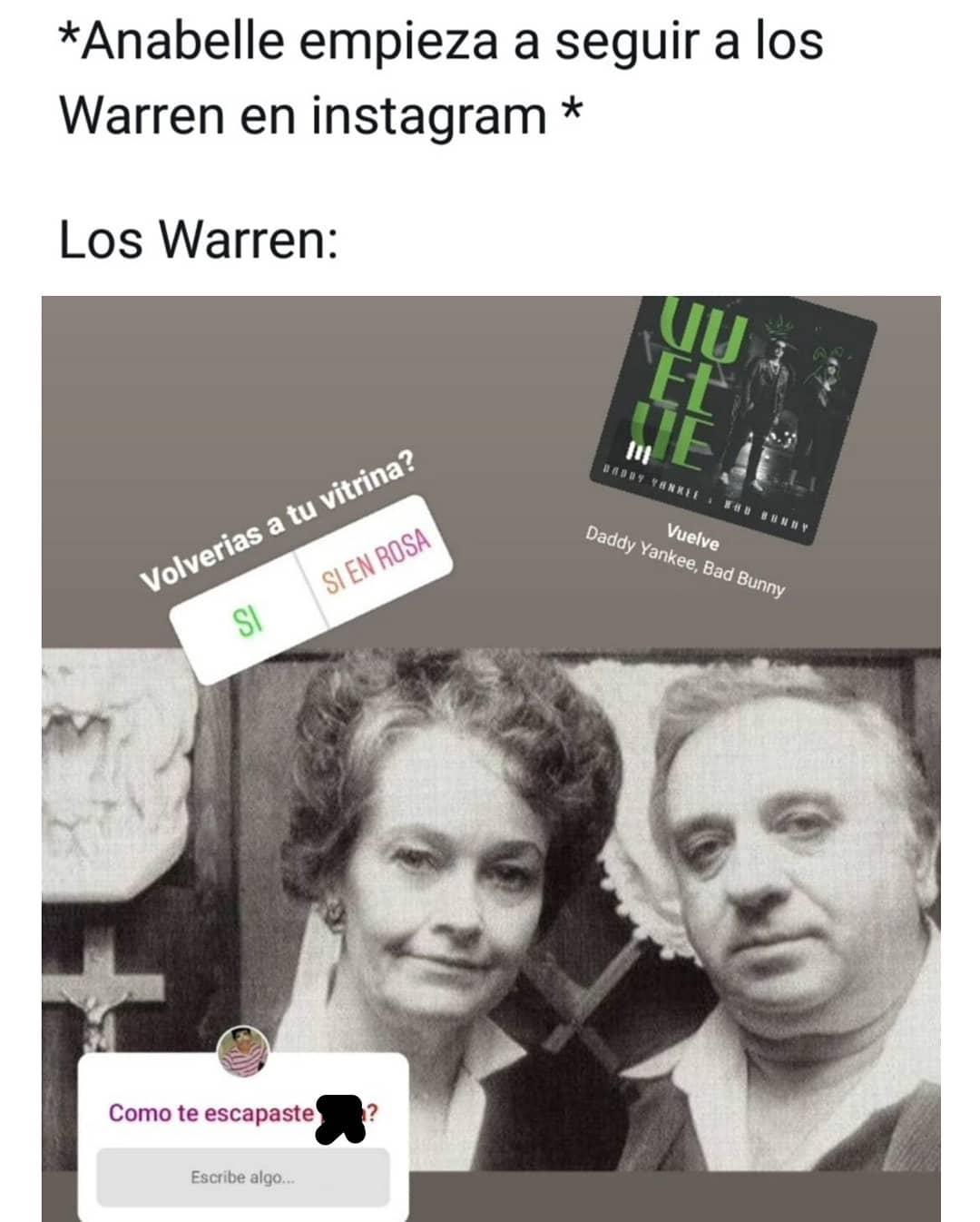 *Anabelle empieza a seguir a los Warren en Instagram * Los Warren: