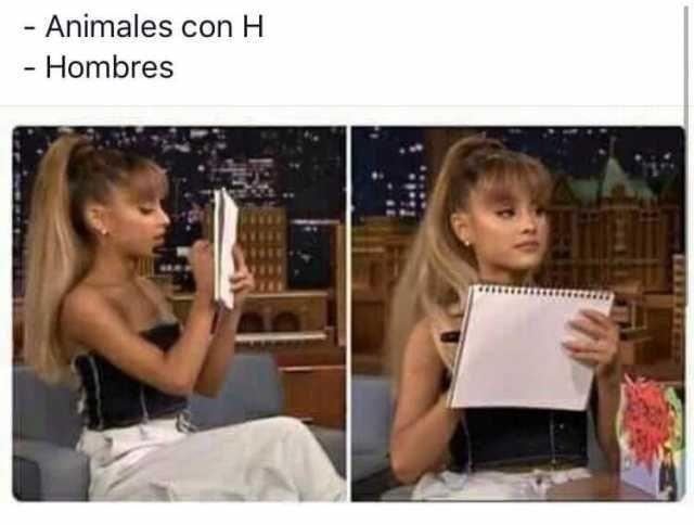 - Animales con H.  - Hombres.