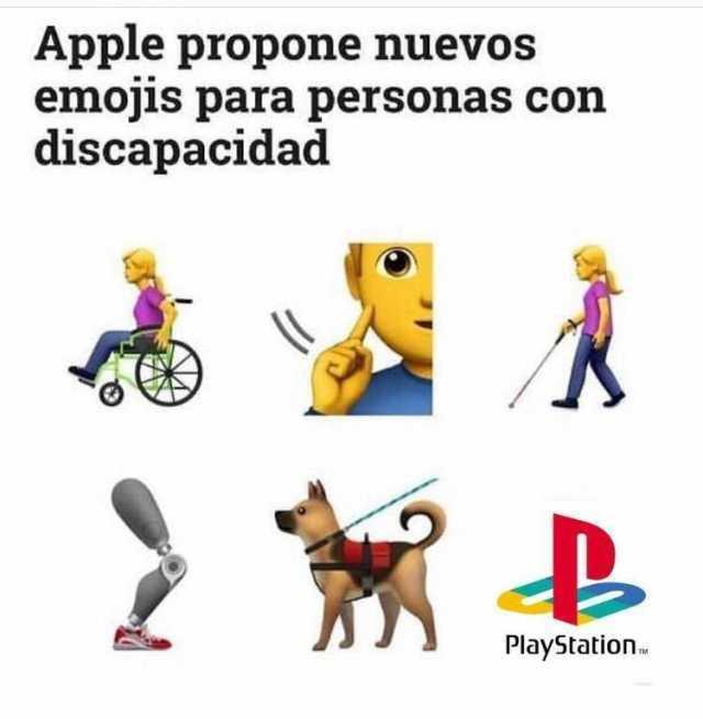 Apple propone nuevos emojis para personas con discapacidad.