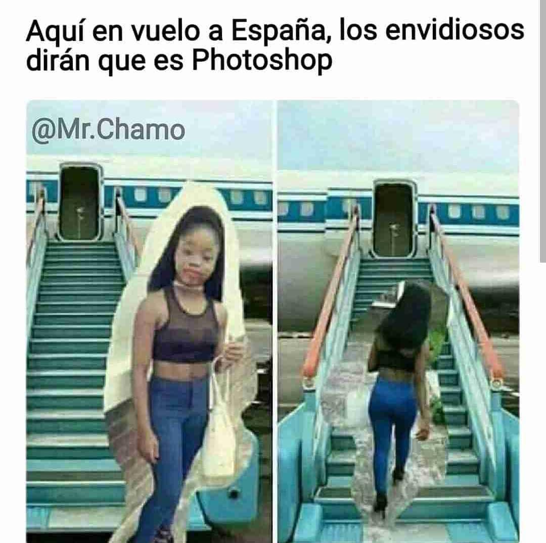 Aquí en vuelo a España, los envidiosos dirán que es Photoshop.