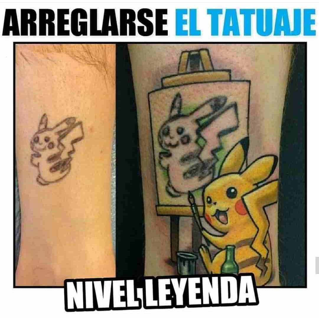 Arreglarse el tatuaje. Nivel leyenda.