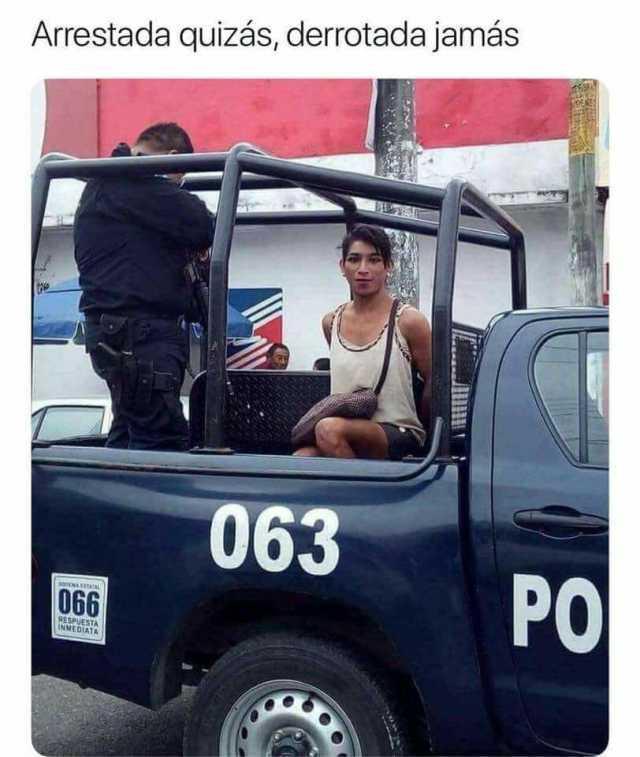 Arrestada quizás, derrotada jamás.