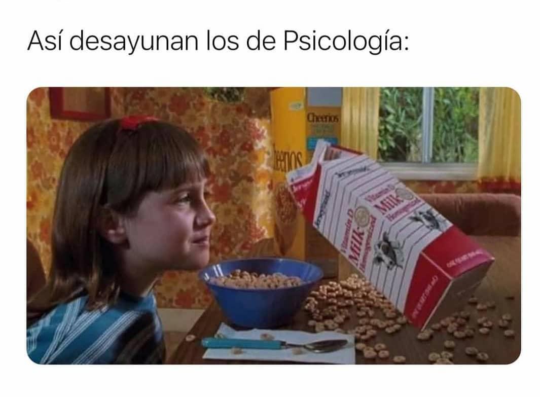 Así desayunan los de Psicología.