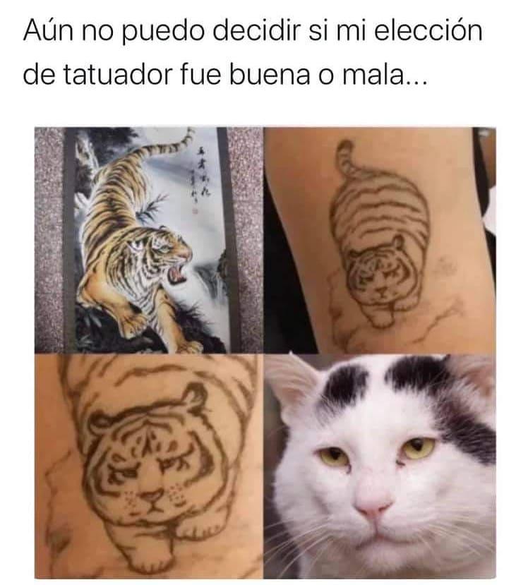 Aún no puedo decidir si mi elección de tatuador fue buena o mala...