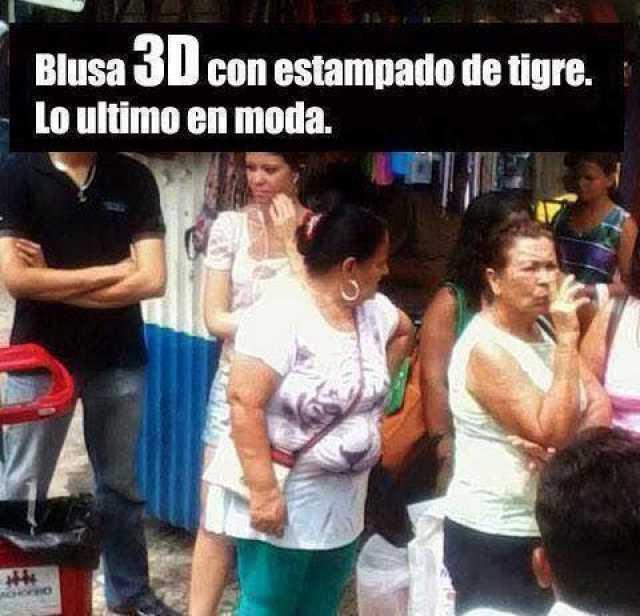 Blusa 3D con estampado de tigre. Lo ultimo en moda.