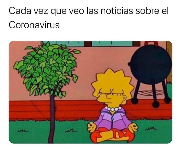 Cada vez que veo las noticias sobre el Coronavirus.