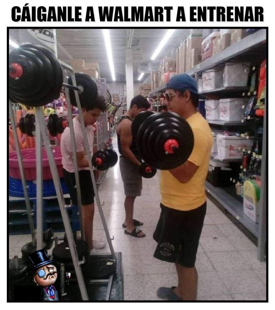 Cáiganle a Walmart a entrenar.