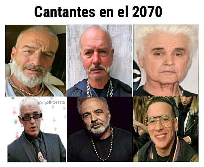 Cantantes en el 2070.