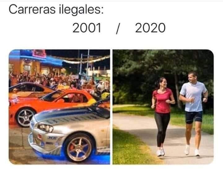 Carreras ilegales: 2001 / 2020.