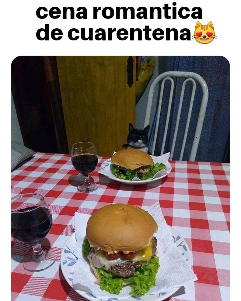 Cena romantica de cuarentena.