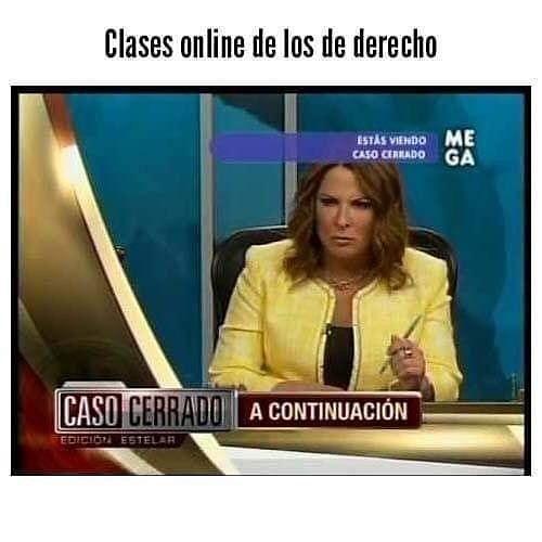 Clases online de los de derecho.