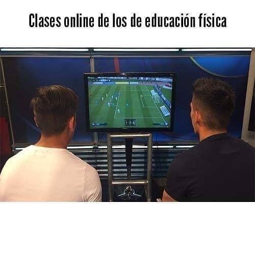 Clases online de los de educación física.