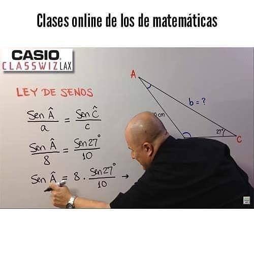 Clases online de los de matemáticas.