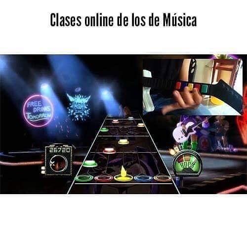Clases online de los de Música.