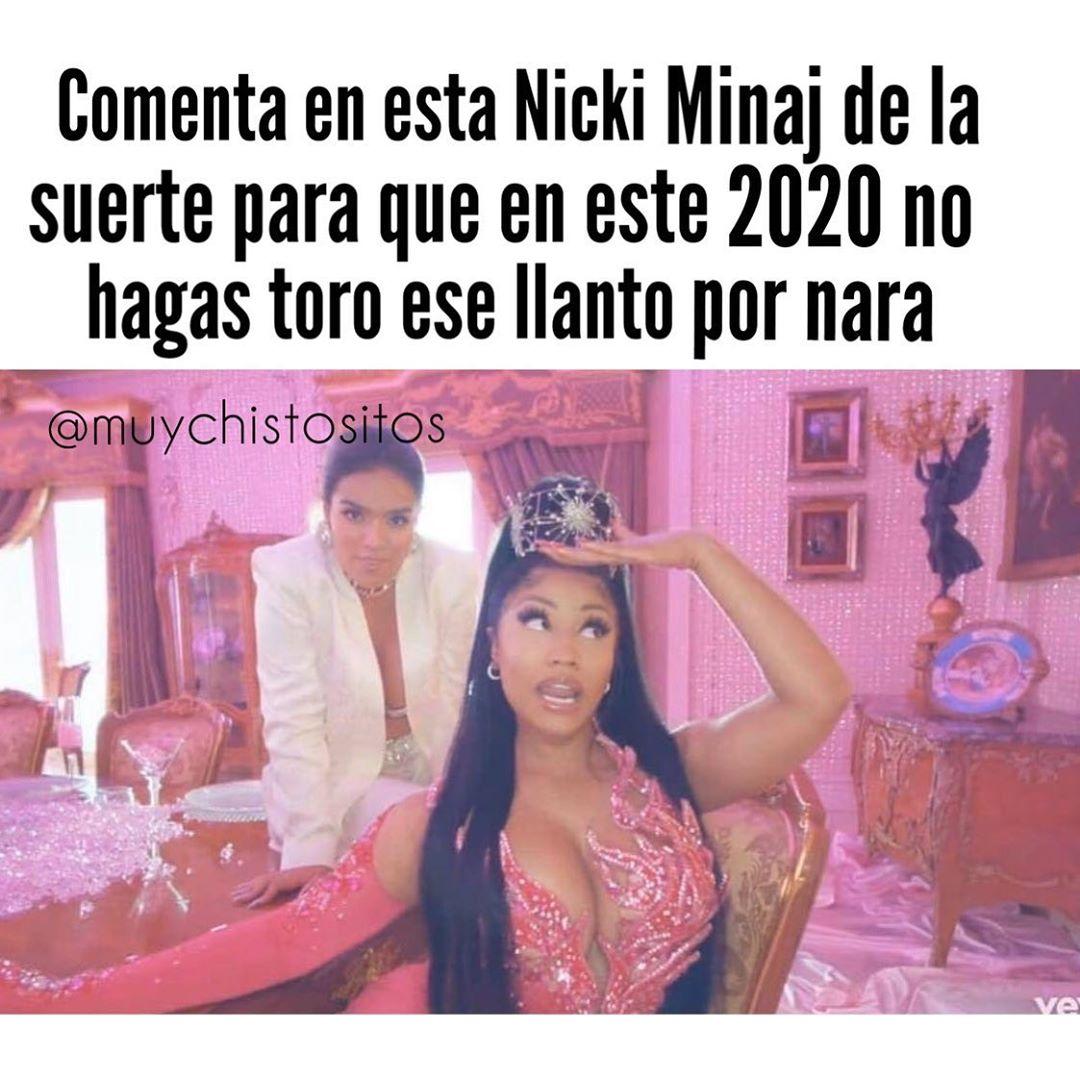 Comenta en esta Nicki Minaj de la suerte para que en este 2020 no hagas toro ese llanto por nara.