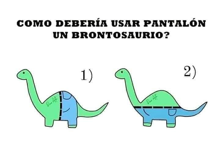 Cómo debería usar pantalón un brontosaurio?