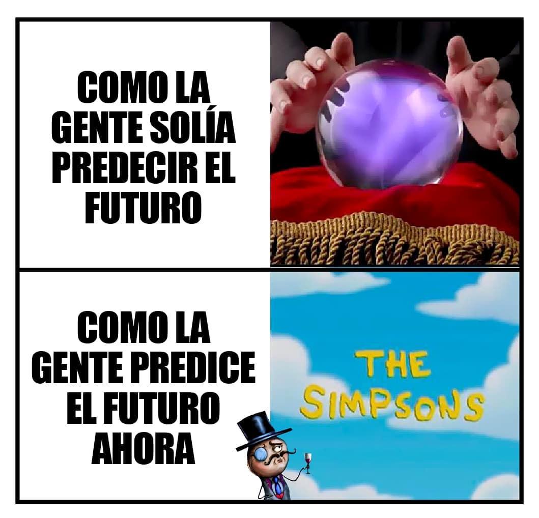 Como la gente solía predecir el futuro.  Como la gente predice el futuro ahora: The Simpsons.