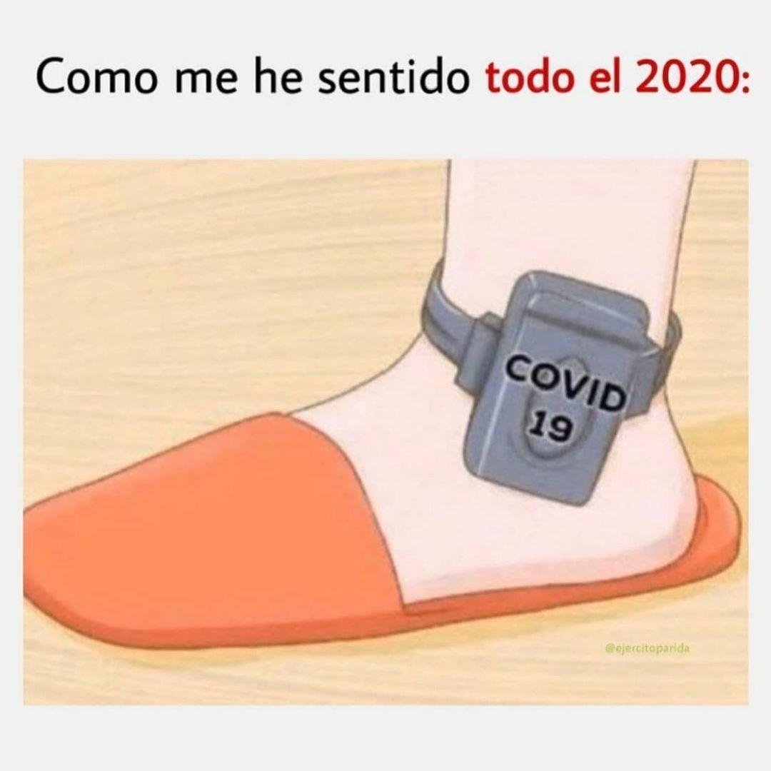 Como me he sentido todo el 2020: COVID19.