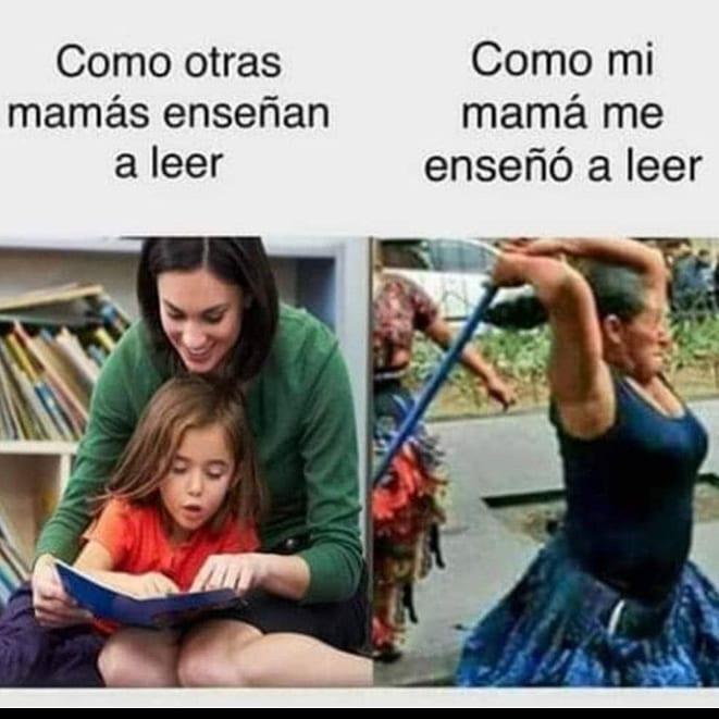 Como otras mamás enseñan a leer. Como mi mamá me enseñó a leer.