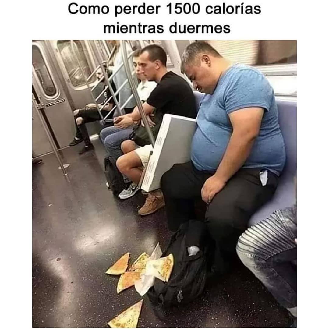 Como perder 1500 calorías mientras duermes.