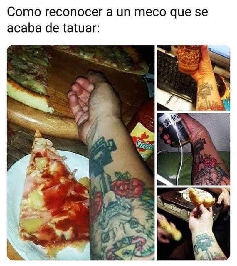 Como reconocer a un meco que se acaba de tatuar:
