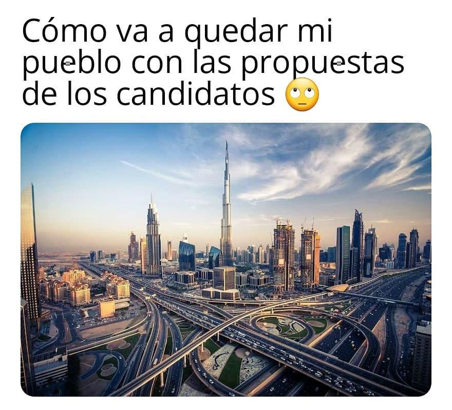 Cómo va a quedar mi pueblo con las propuestas de los candidatos.