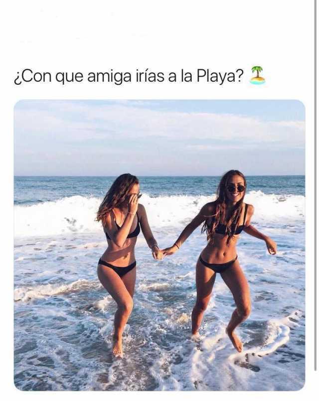 ¿Con que amiga irías a la Playa?