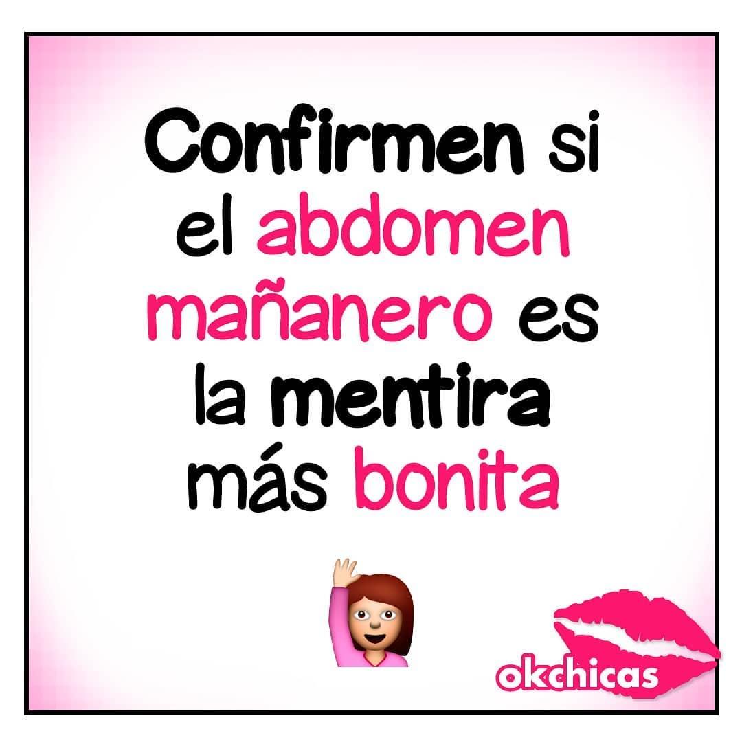 Confirmen si el abdomen mañanero es la mentira más bonita.