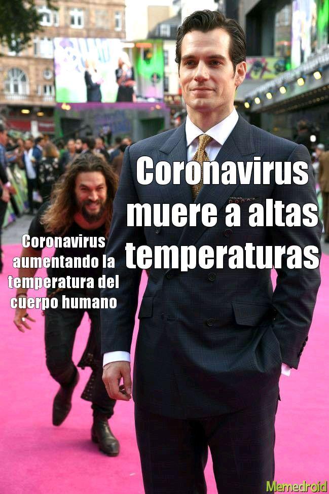 Coronavirus aumentando la temperatura del cuerpo humano.  Coronavirus muere a altas temperaturas.