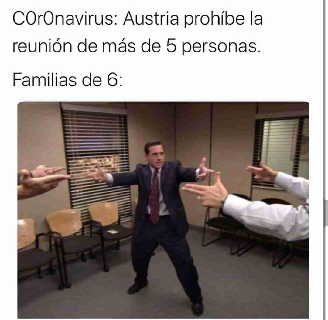 Coronavirus: Austria prohíbe la reunión de más de 5 personas.  Familias de 6: