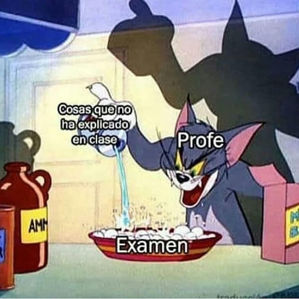 Cosas que no ha explicado en clase. Profe. Examen.
