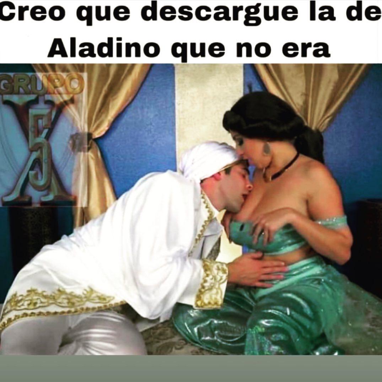 Creo que descargué la de Aladino que no era.