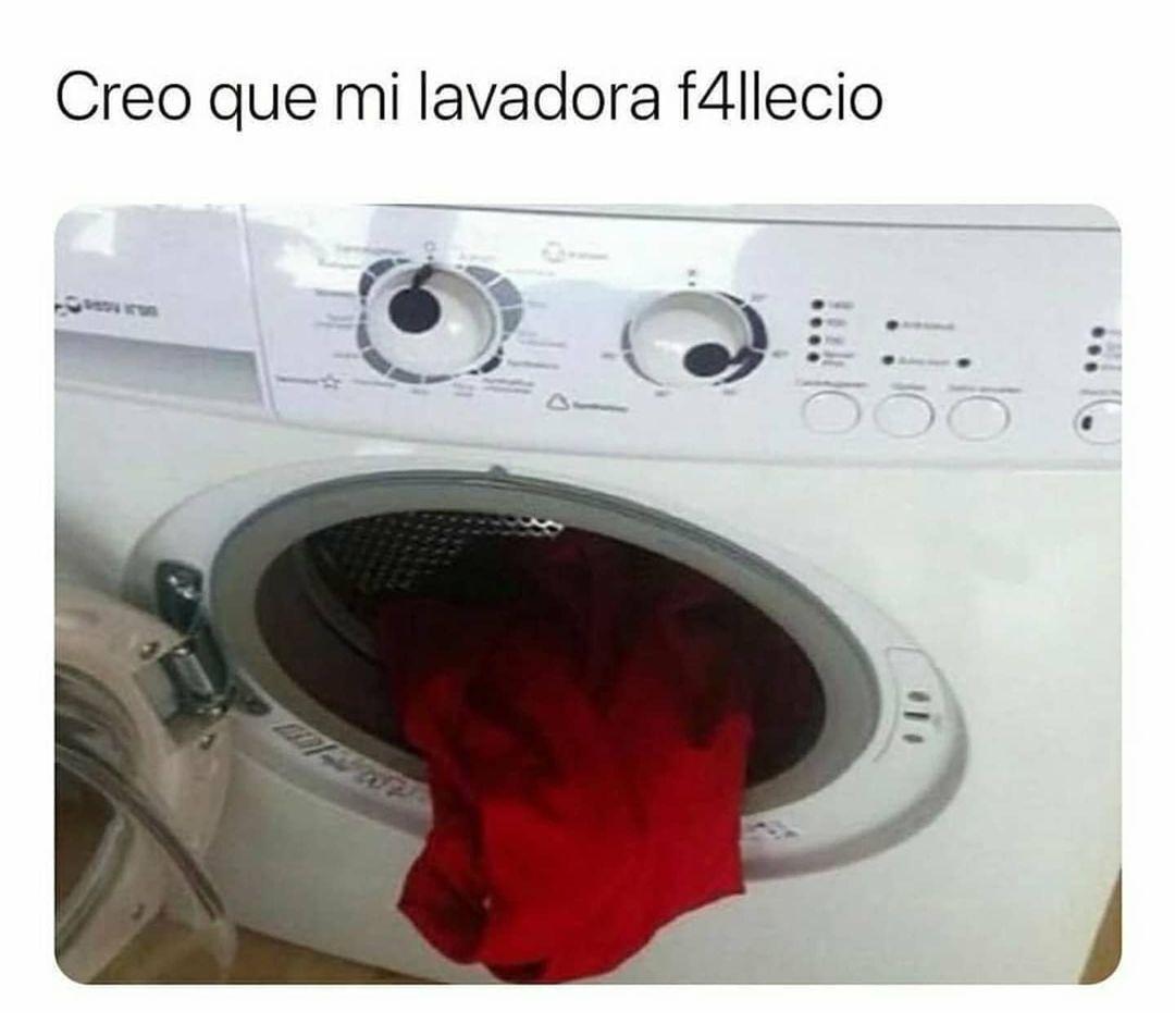 Creo que mi lavadora falleció.