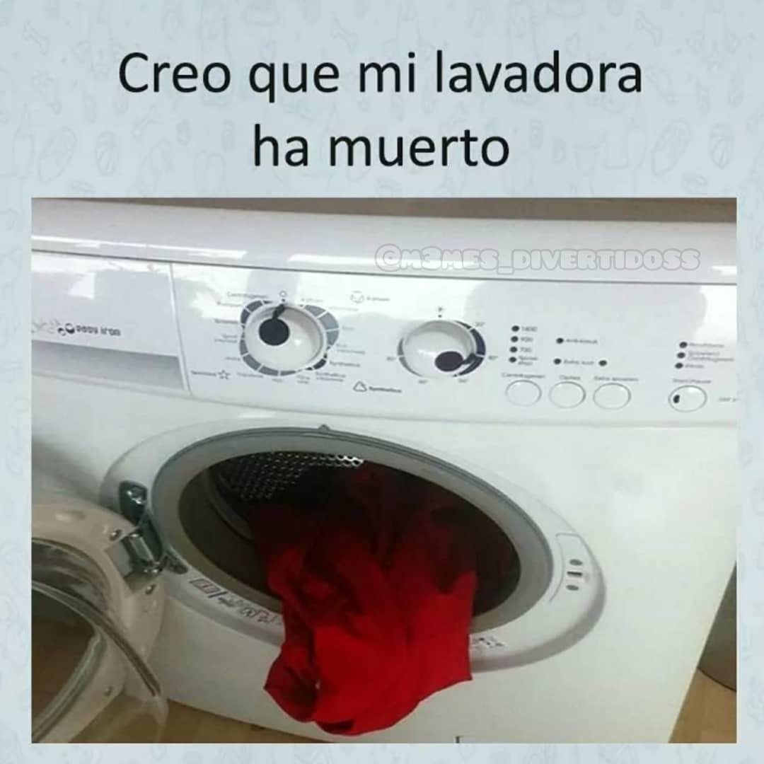 Creo que mi lavadora ha muerto.