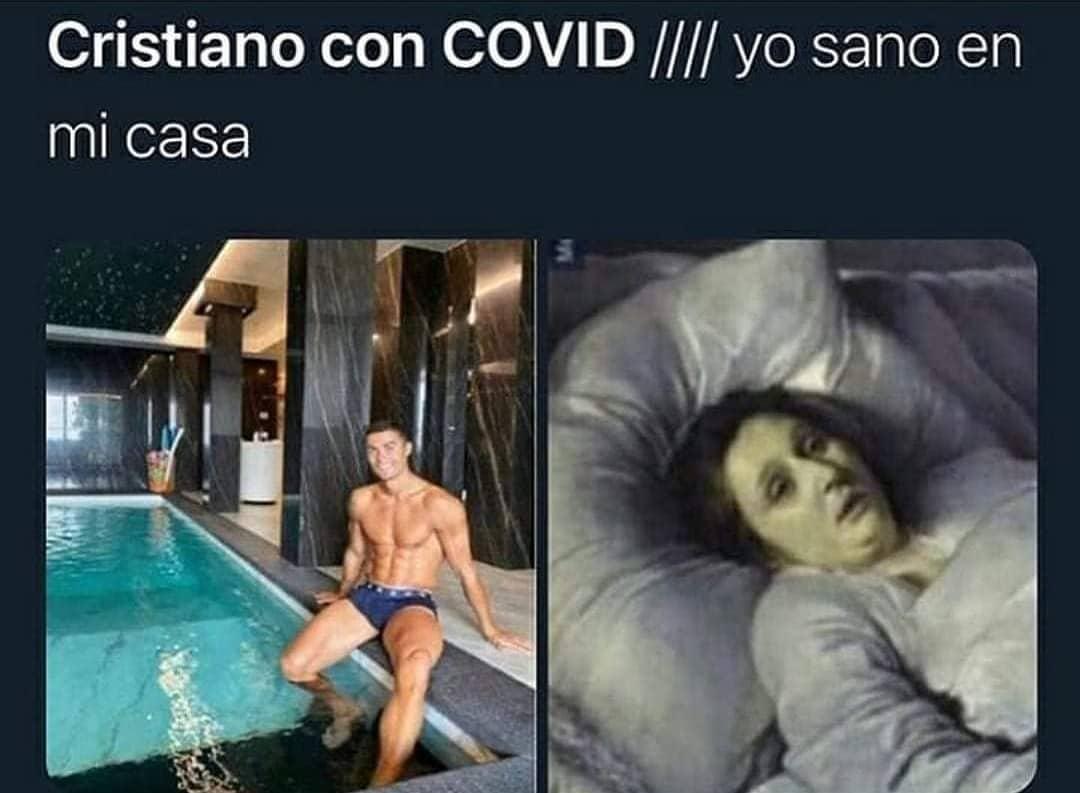 Cristiano con COVID //// Yo sano en mi casa.